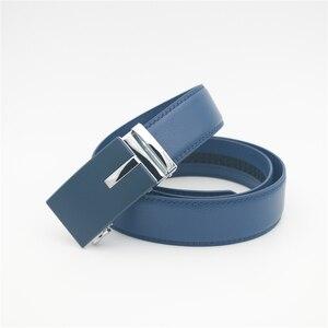 Image 2 - WESTERN AUSPICIOUS Genuine Leather Belt Men Blue Strap Automatic Male Belts Super Cinturon Hombre