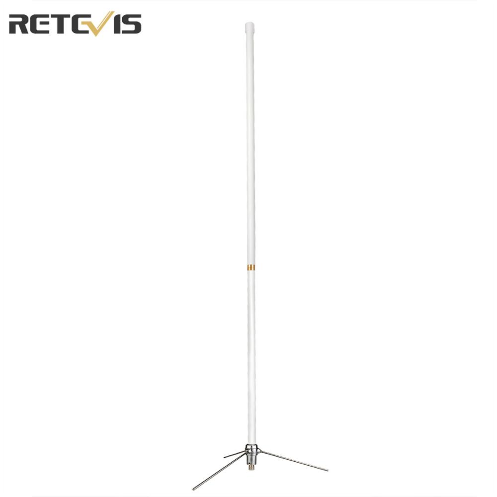 Retevis MA02 High Gain Glass Steel Omni-Directional Antenna For Two Way Radio Base Station Repeater (144/430MHz)