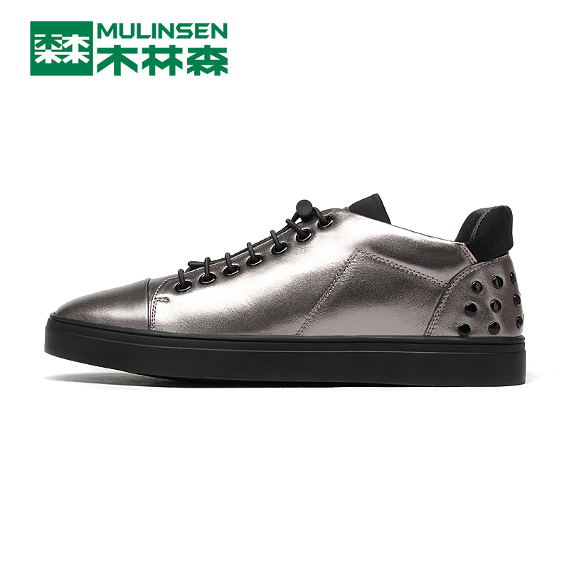 Genuine Leather Men Walking shoes,Handmade Men Shoes,High Quality Ankle For Winter Shoes,Mulinsen S260078