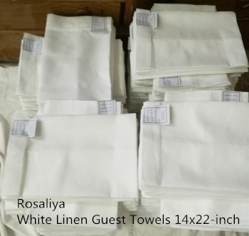 Set Of 12 Handkerchiefs White Linen Tea Towel 14
