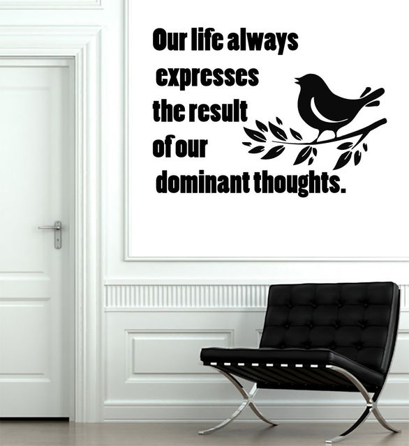 Sticker Wall Decals Quote Our Life Always Home Decor Art Nursery Bird Vinyl