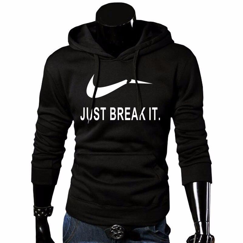 2018 herbst Neue Ankunft Hohe NUR BRECHEN ES Gedruckt Sportswear Männer Sweatshirt Hip-Hop Männliche Mit Kapuze Hoodies Pullover Hoody kleidung