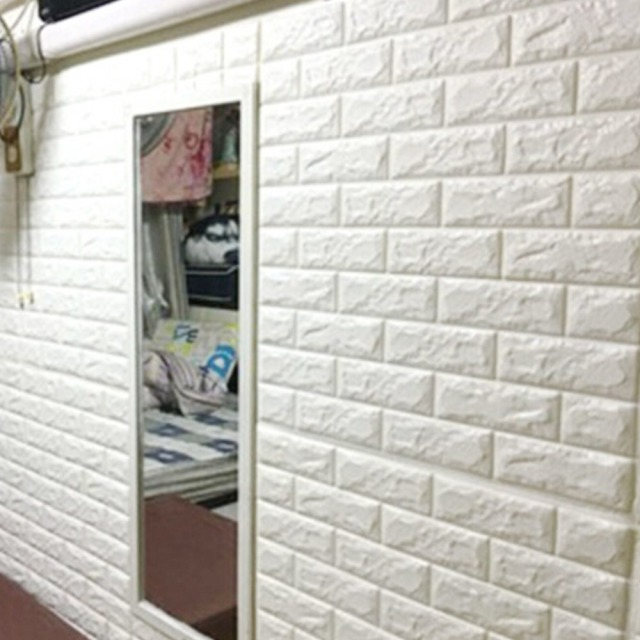 3D Brick Pattern Wall Stickers Family Adhesive Safety And Environmental  Protection Simple Style Wall Decals