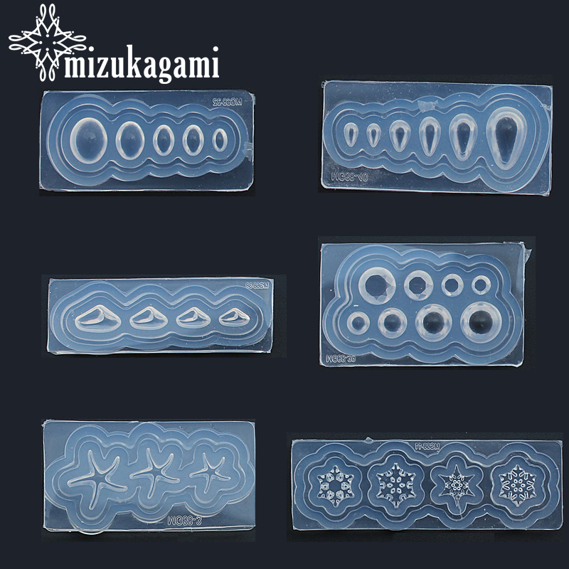 Resin Jewelry Liquid Silicone Mold Snowflake Geometric Figure Silicone Beads Molds For DIY Intersperse Decorate Making Jewelry