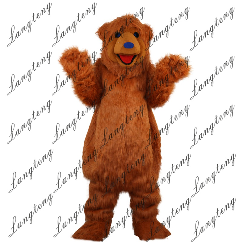 2018 New Hot Sale Brown Bear Mascot Costume Adult Size ...