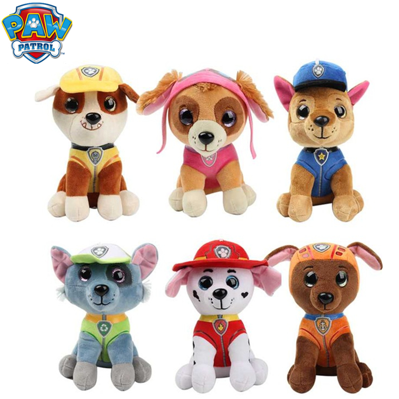Paw Patrol Dog Toys Puppy Stuffed Plush Doll Plush Filling Skye Action Figures Figma Anime Figure Model Toys For Children Gift