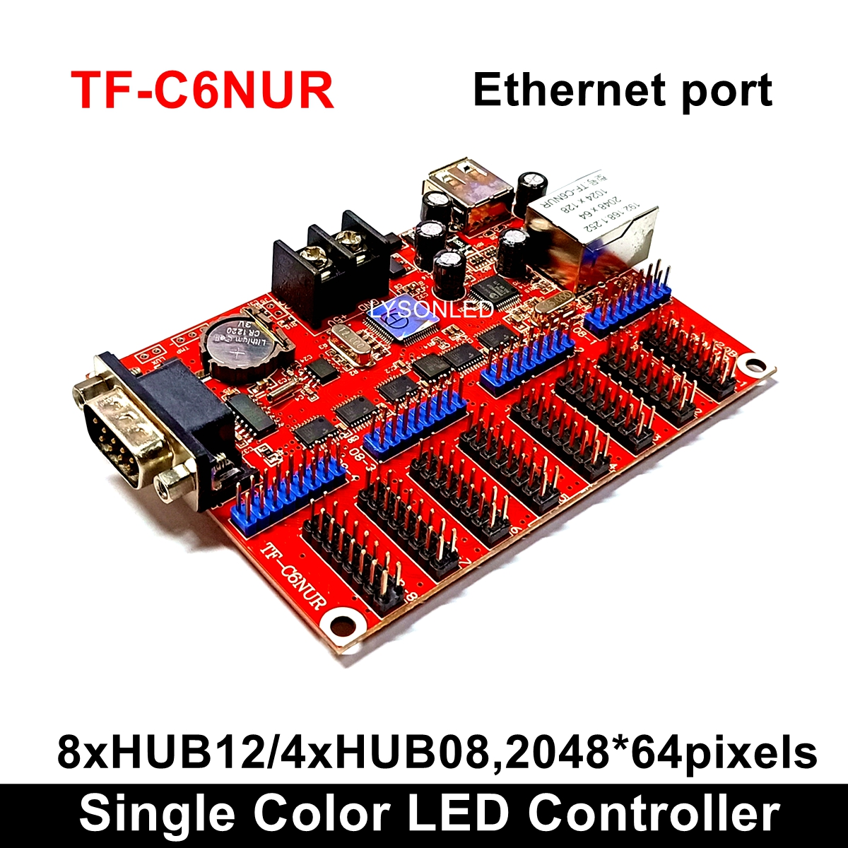LongGreat TF-C6NUR(TF-C5NUR) LED Display Control Card With RJ45 & USB Driver & RS232 Ports