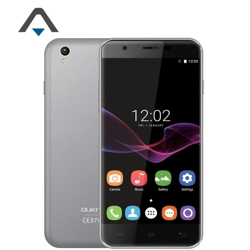 "Original Oukitel U7 Max Mobile Phone 5.5"" 1280x720 IPS MTK6580 Quad Core Android 6.0 1GB RAM 8GB ROM 8.0MP 3G WCDMA Smartphone"