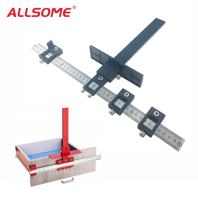 Allsome 5mm Drill Guide Sleeve Cabinet Hardware Jig Drawer Pull Wood Drilling Dowelling Hole Saw Master System Ht2299