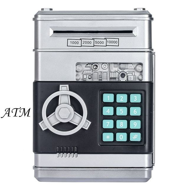 30de98213392 US $17.99 | Children's Money Saving Bank Deposit Box Intelligent Voice Mini  Safe and Coin Vault for Kids with Pass Code -in Money Boxes from Home & ...