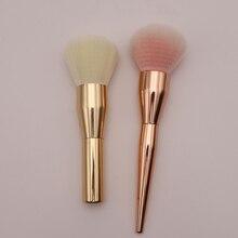 Profesional Aluminium Tabung Makeup Brushes Pipi Powder Brush Kecantikan Make Up Tools Concealer Portable Single Kosmetik Brushes