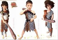 Halloween Adult Men Sexy Primitive Tribe Savage Leopard Print Cosplay Costume Kids Boy Girls Aboriginal Wildman