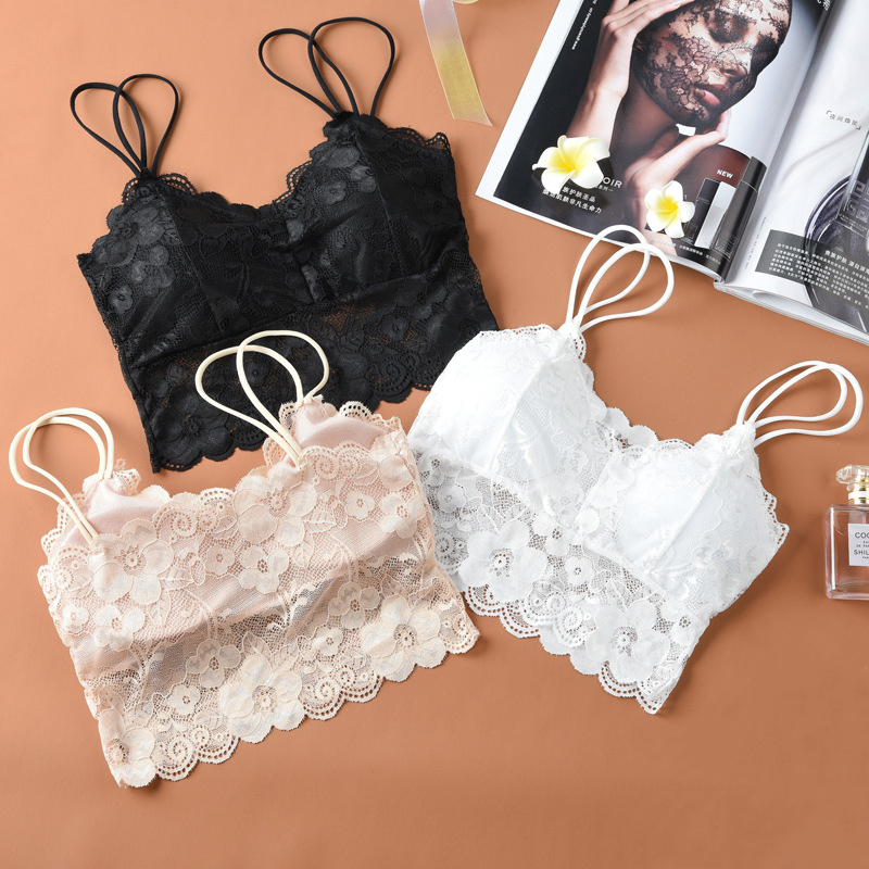 Wild vest simple girl style sexy lace beauty back anti lighting bottom sling lady tube top wrapped chest free shipping in Tube Tops from Underwear Sleepwears