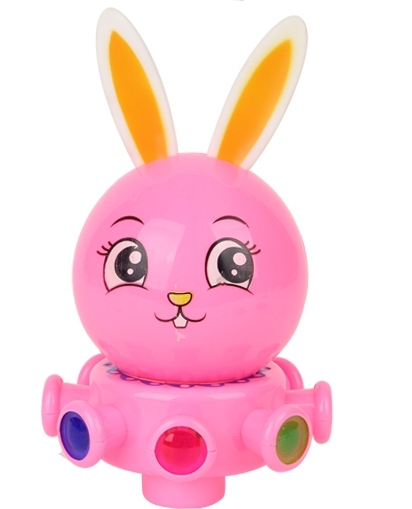 Elétrico de rotação universal coelho obediente coelho obediente coelho luzes wanxianglun música brinquedos para crianças