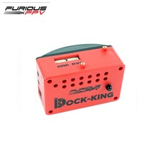 FuriousFPV Dock-King FPV Ground Station Built-in OSD & Warning Buzzer With Dual AV Output Ports For RC Models Multicopter Part