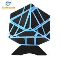 LeadingStar Speed Soomth Carbon Fiber Puzzle Cube Blue Black Magic Cube Puzzle Toy Zk30