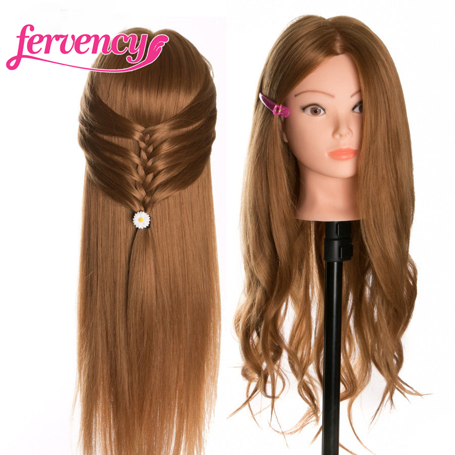 Training Head 60 % Real Human Hair 60 cm blonde For Salon Hairdressing Mannequin Dolls professional styling head can be curled
