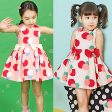 Girls Dress 2019 new summer Cotton Kids Clothes Sleeveless Dot Baby Dress 2-3-4-5-6-7 years Baby Girl Clothes 2019 summer girl dress kids children dress cotton striped princess dress baby girls clothes 4 5 6 7 8 9 10 years girl costume