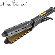 Wholesale prices NewView Titanium Ceramic Hair Straightening Irons Anion Hair Flat Iron Styling Tools Hair Straightener Professional