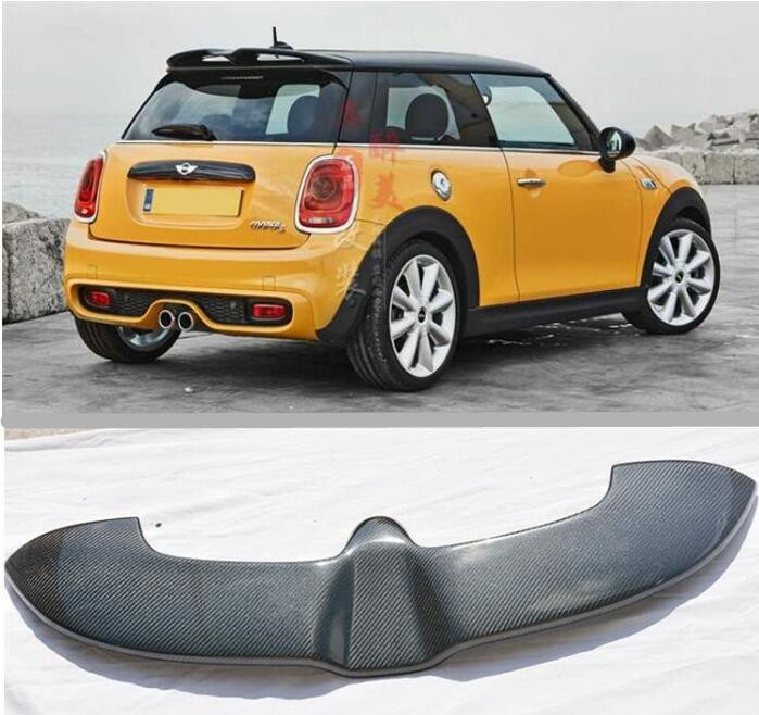 Carbon Fiber CAR REAR WING TRUNK LIP SPOILER FOR BMW Mini Cooper F55 F56 2009 2017 BY EMS