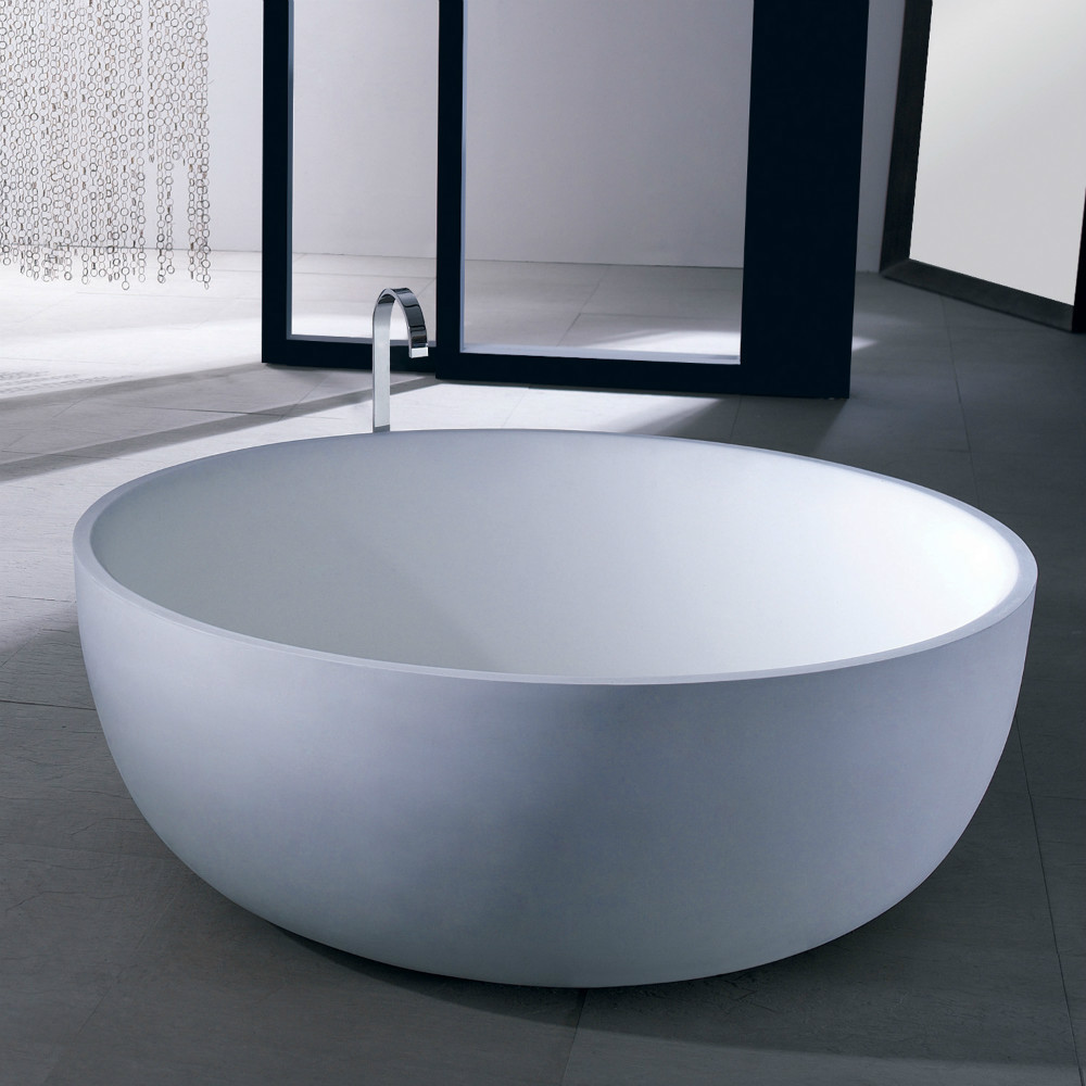 Circle jade seiko bathtub freestanding bathtub artificial ceramic ...