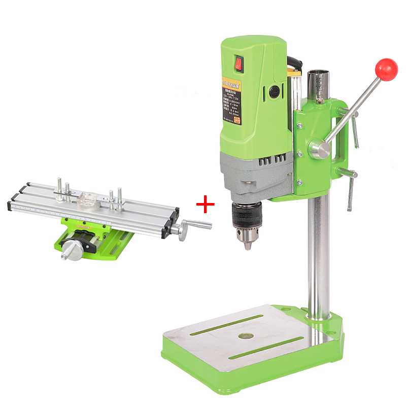 710W Electric Drill Press Mini Bench Drilling Machine Drilling Diameter 1-13mm For DIY Wood Metal Electric + Bench Vise