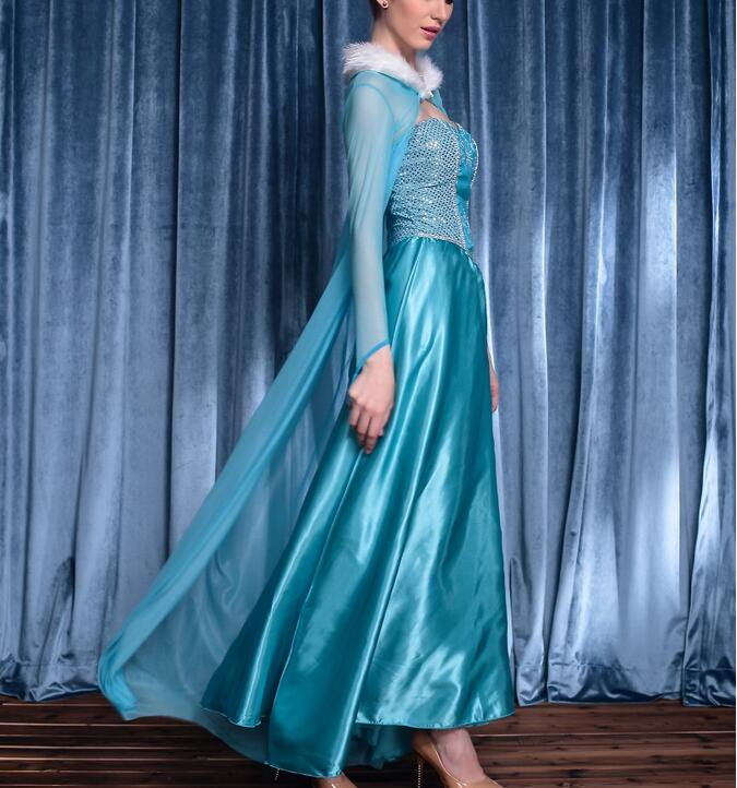 73f49efdca244 Princess Anna Elsa Queen Girls Cosplay Costume Party Formal Dress Queen  Dress Halloween Masquerade Costume Fairy-in Movie & TV costumes from  Novelty ...