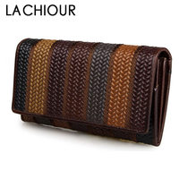 Brand Retro Vintage Women Long Leather Wallet Classic Chinese Style Genuine Leather Clutch Purse Female Designer Evening Bag