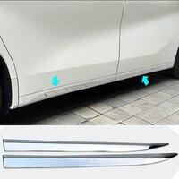 TTCR II ABS Car Chromium Styling Decoration Body Side Moulding Rabbing Strip Trim for Toyota Alphard Vellfire 2015 2016