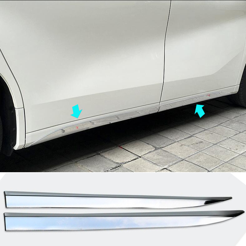 ABS Chromium Styling Decoration Body Side Moulding Rabbing Strip Trim for Toyota Alphard Vellfire 2015 2016 Modified Accessory car styling abs chrome body side moldings side door decoration for hyundai ix35