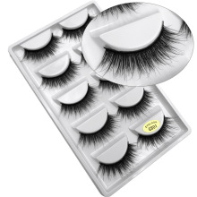3D Mink Lashes 5 Pair Natural Makeup False Eyelashes Extension 16mm Long Volume Soft Fake Eyelash Faux Cils Beauty Make Up Tools