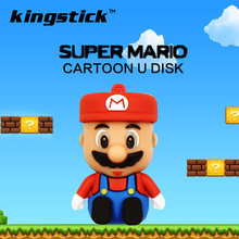 Super mario cartoon Usb Flash Drive 8GB 16GB silicone U Stick Pen Drive 4GB cheap Pendrive 32GB 64GB 128GB Flash Drive Gift(China)