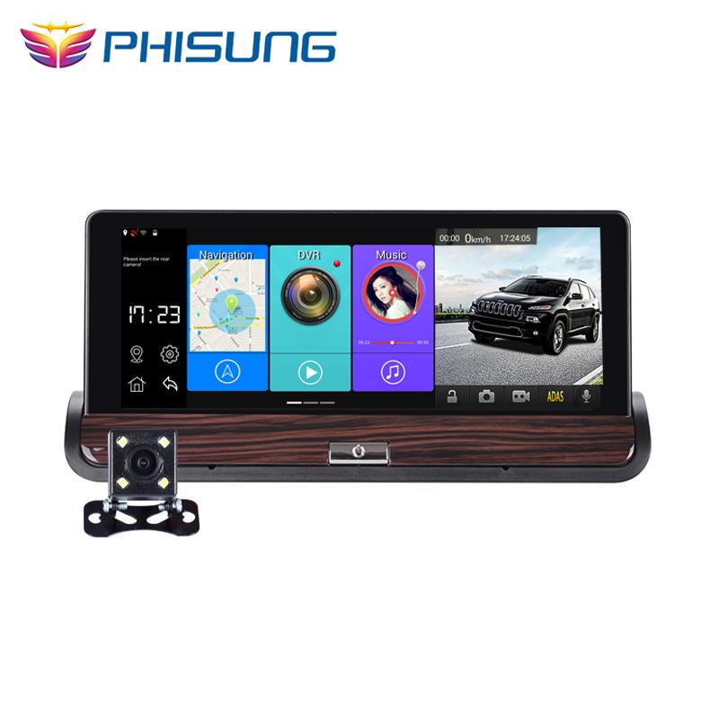 Prix pour Phisung V40 Full HD Voiture DVR GPS Android 7 pouces Tactile Double caméra WiFi Auto Caméra De Voiture Center Console Bus Camion de voiture caméra