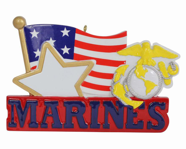 American Marines Military Polyresin Hanging Personalized Christmas ...