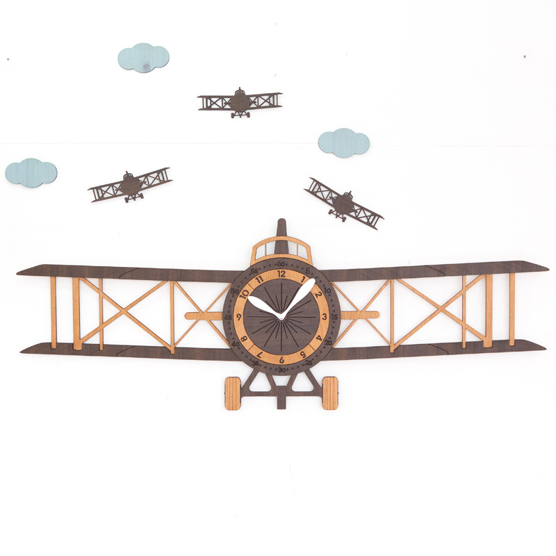 Большие настенные часы для гостиной, современный европейский стиль, детские деревянные настенные часы с мультяшным рисунком, домашний деко