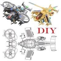 DIY Model Samolotu Samoloty Bojowe Uprawy Symulacja Plastikowe Rozwoju Dzieci Zabawki LED Light & Zabawki Muzyczne Dla Dzieci