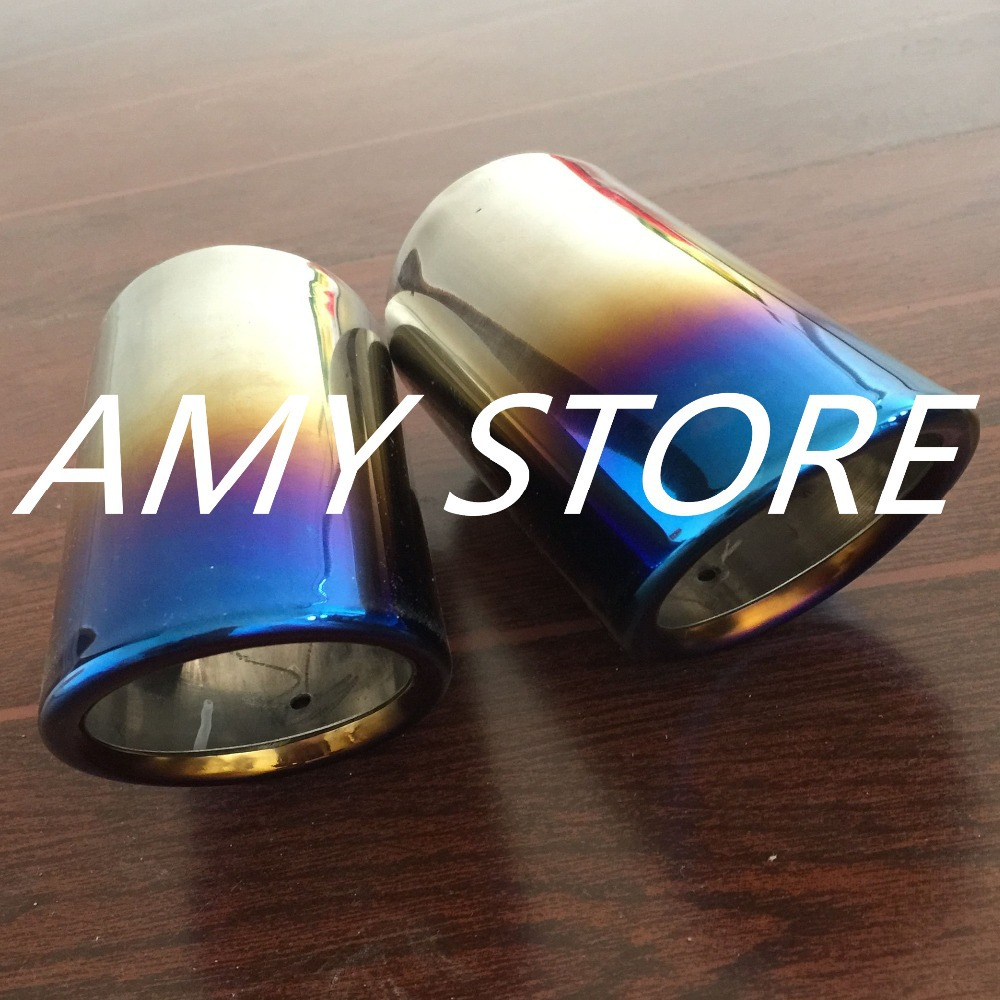 Bluing Muffler Exhaust Pipe Tip FOR BMW E90 E92 325 328 i 325i 328i 3 Series