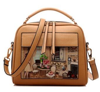 Летящие птицы! Женская кожаная сумка известных брендов, женские сумки-мессенджеры, женская сумка-мешок, высокое качество, женская сумка LS8235fb - Цвет: big khaki handbag