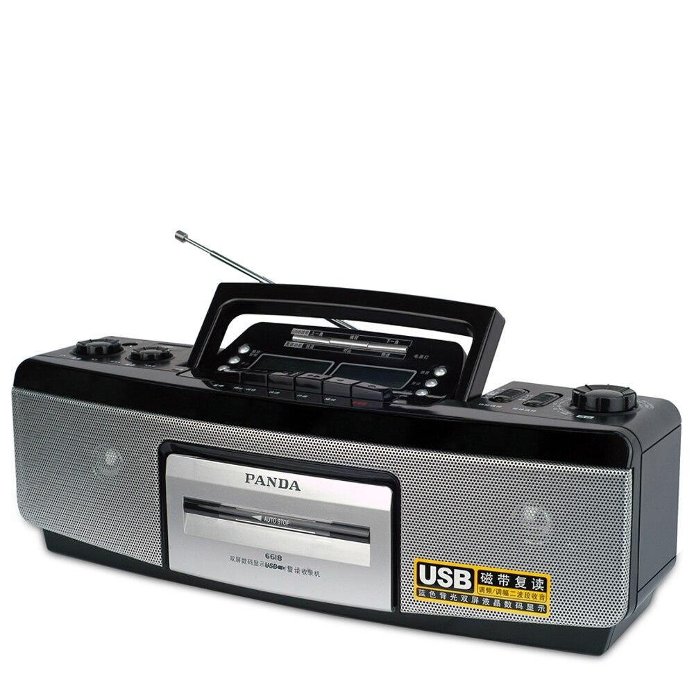 Панда 6618 магнитофоны лента повторить записи U диск воспроизведение USB двойной ЖК-экрана двойной колонки