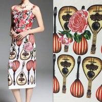 1 piece 75 cm chiều dài linen mềm vải cho váy, sicily thiết kế in dày polyester vải linen, linen thoáng khí mô