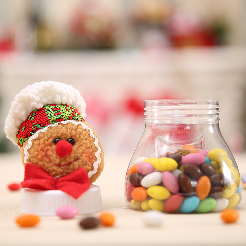 Christmas Candy Transparent Sealed PP Cans Children\'s Gift Brown non ...