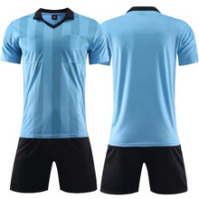 a28ea02db4f 2018 new Professional referee soccer jerseys sets survetement Football Kit  training football shirt shorts Futbol judge uniform
