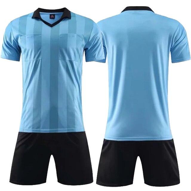 2018 new Professional referee soccer jerseys sets survetement Football Kit  training football shirt shorts Futbol judge f3a0e60f0