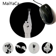 MaiYaCa  Good Luck Gamer Speed Mice Retail Small Rubber Mousepad Custom Design Gaming Computer Round Mouse pads