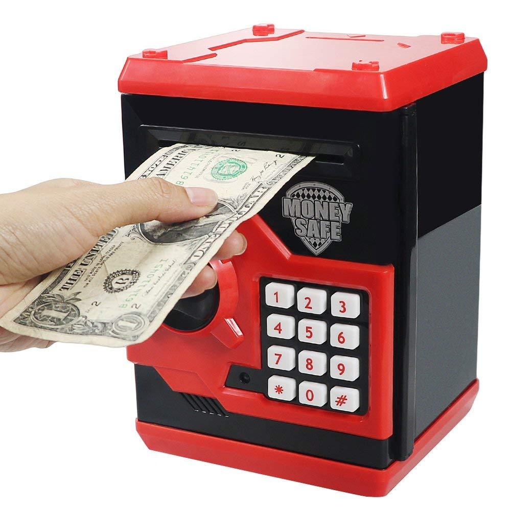Grand jouet cadeau pour enfants Codes enfants tirelires électroniques Mini ATM banque de pièces électroniques tirelire pour enfants meubles jouet