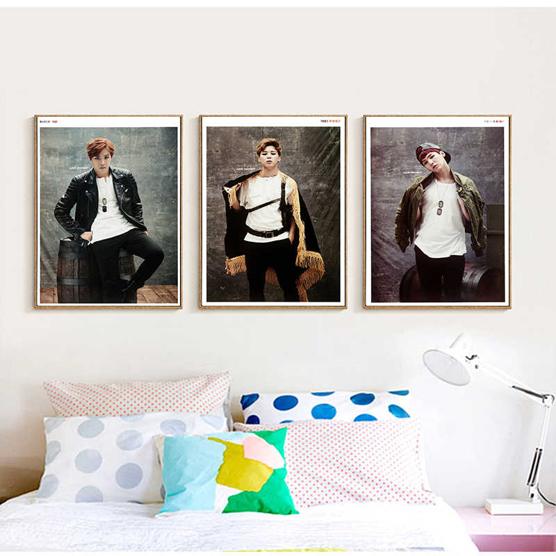 K-pop Posters BTS Members Wall Stickers Home Decoration Livingroom Bedroom Print 42*30cm  No Frame
