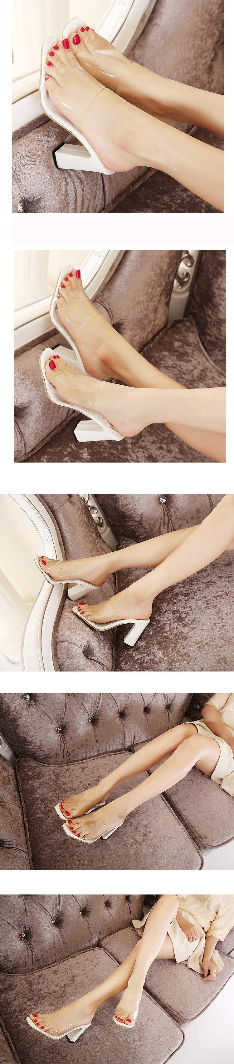 HTB1mFHDhsnI8KJjSsziq6z8QpXaa Eilyken 2019 Summer Rome Sandals Women Leisure slippers Fashion Women's Sandals Slides shoes Square heel 9.5cm
