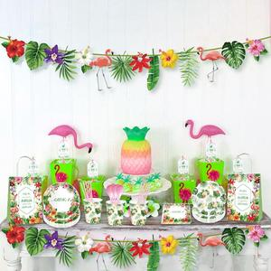 Image 2 - הוואי מסיבת אלוהה ואאו פלמינגו דקור עלה דקל אננס טרופי הקיץ מסיבת יום הולדת אספקת הוואי המפלגה דקור חתונה
