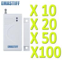 Spedizione gratuita Bianco 10/20/50/100 pz Porta wireless sensore magnetico di Alta qualità di nuovo Antifurto Casa GSM Sistema di Allarme di Sicurezza