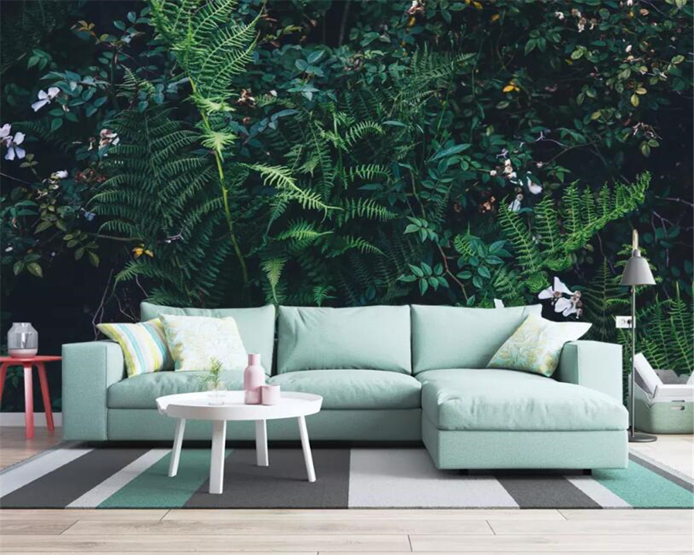 Us 8 85 41 Off Beibehang High Quality 3d Wallpaper Fantasy Green Rain Forest Jungle Living Room Tv Sofa Background Wall 3d Wallpaper Behang In